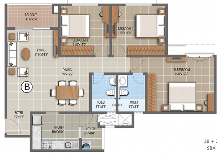 Purva Palm Beach, Bangalore - Floor Plan