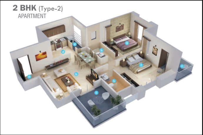 Nirmaan Aasamant Phase I, Pune - Floor Plan
