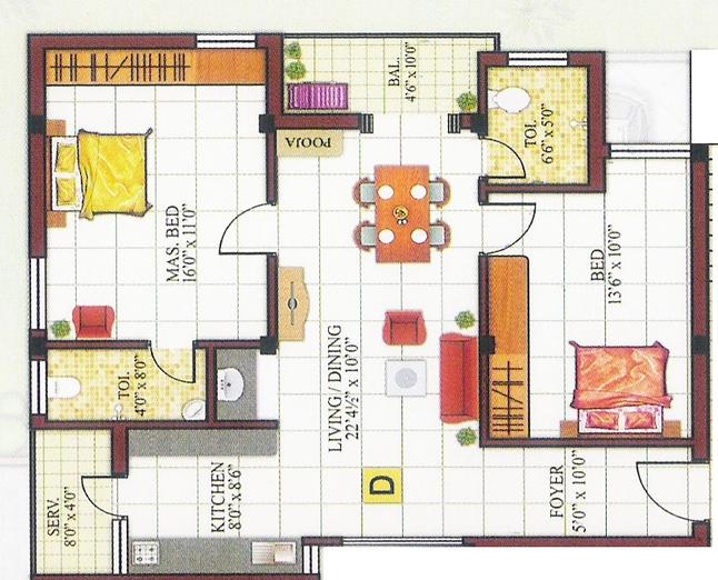 Chola Mathura Homes, Chennai - Floor Plan