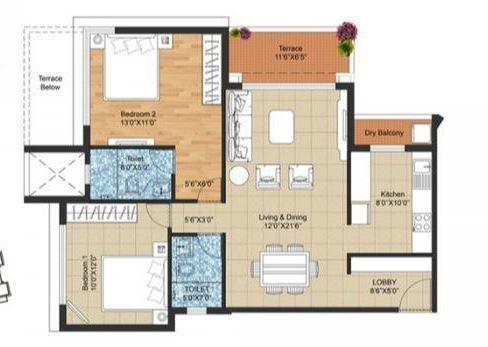 PRA The Lake District Phase II, Pune - Floor Plan
