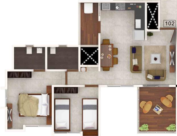 Gagan Cefiro Phase II, Pune - Floor Plan
