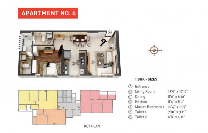 Nahar Cayenne, Mumbai - Floor Plan