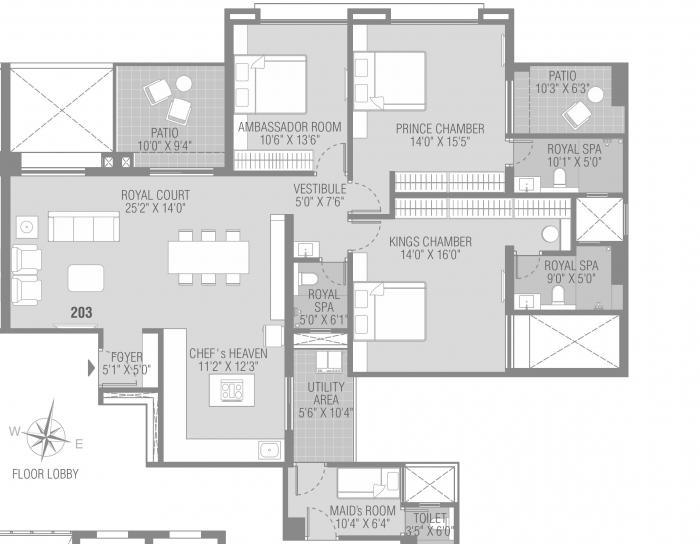 Kundan Presidia, Pune - Floor Plan