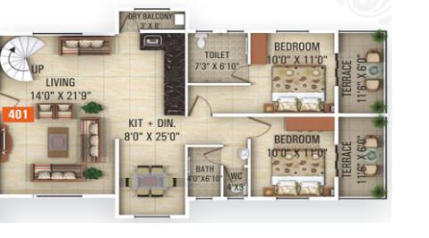 Keystone Crystal, Pune - Floor Plan