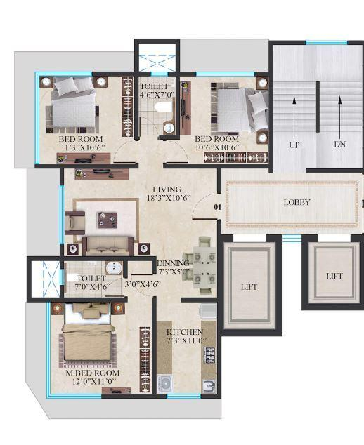 Crescent Imperia, Mumbai - Floor Plan