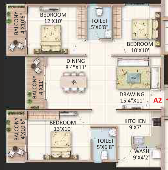 Candeur Landmark, Bangalore - Floor Plan