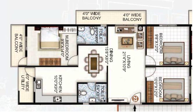Silicon Valley, Bangalore - Floor Plan