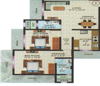 Vardhaman Flora, Mumbai - Floor Plan