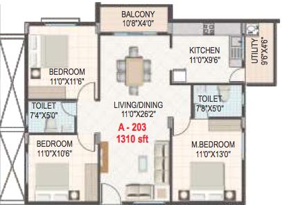 Gomati Iris, Bangalore - Floor Plan