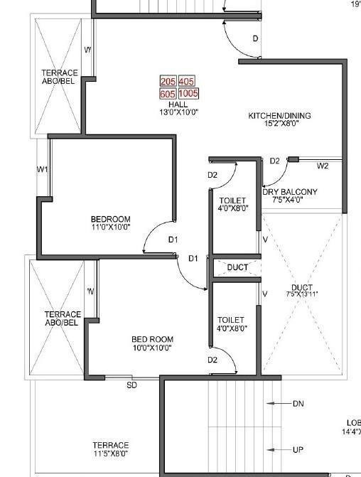 Bright Aristo, Pune - Floor Plan