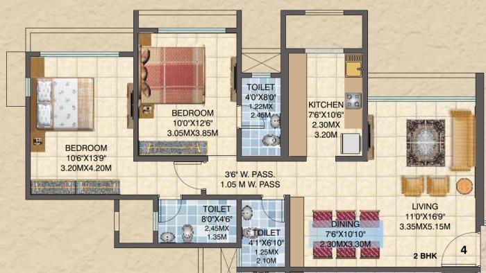 Asmita Sand Dunes, Mumbai - Floor Plan