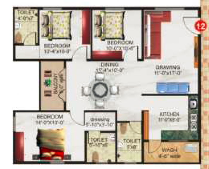 SSVR Lotus Pond, Bangalore - Floor Plan