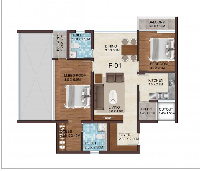 VSPL Crescent, Bangalore - Floor Plan