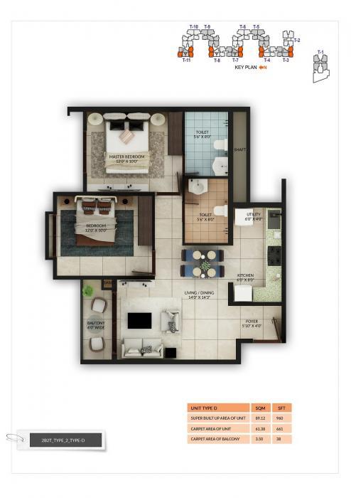 Salarpuria Sattva Misty Charm, Bangalore - Floor Plan