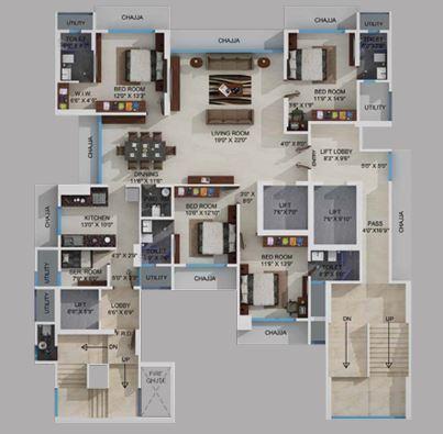 Ekta Invictus, Mumbai - Floor Plan