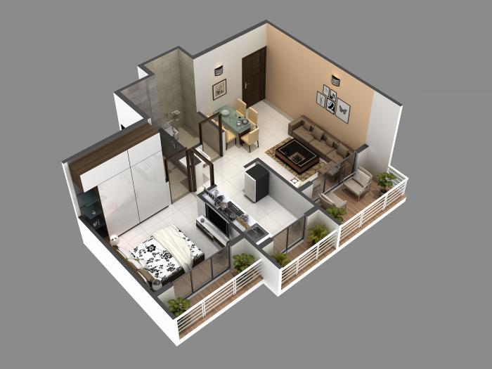 Aariant Emerald Prime, NaviMumbai - Floor Plan