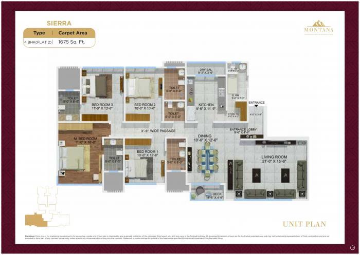 Sheth Montana, Mumbai - Floor Plan