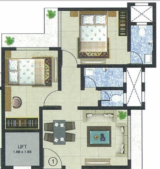 Drushti Saipradnya, Mumbai - Floor Plan