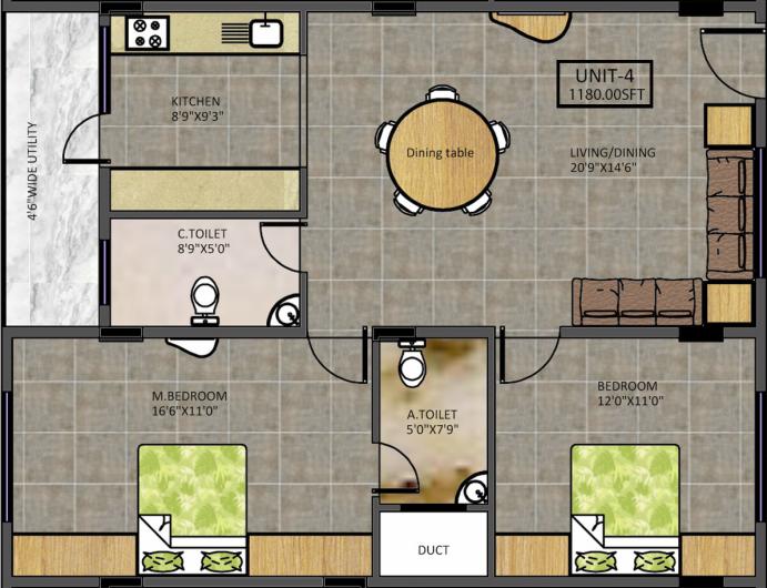 Anubhava Ishwerya Iris, Bangalore - Floor Plan