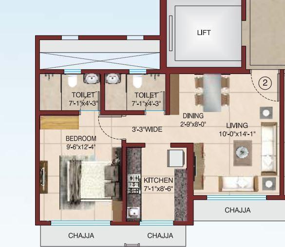Raj Rudraksha, Mumbai - Floor Plan