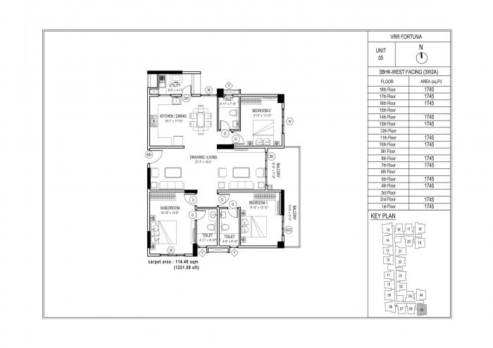 VRR Fortuna, Bangalore - Floor Plan