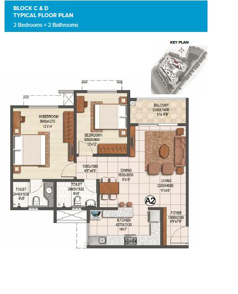 Brigade Buena Vista Phase II, Bangalore - Floor Plan