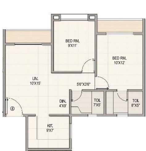 Ved Brillante, NaviMumbai - Floor Plan