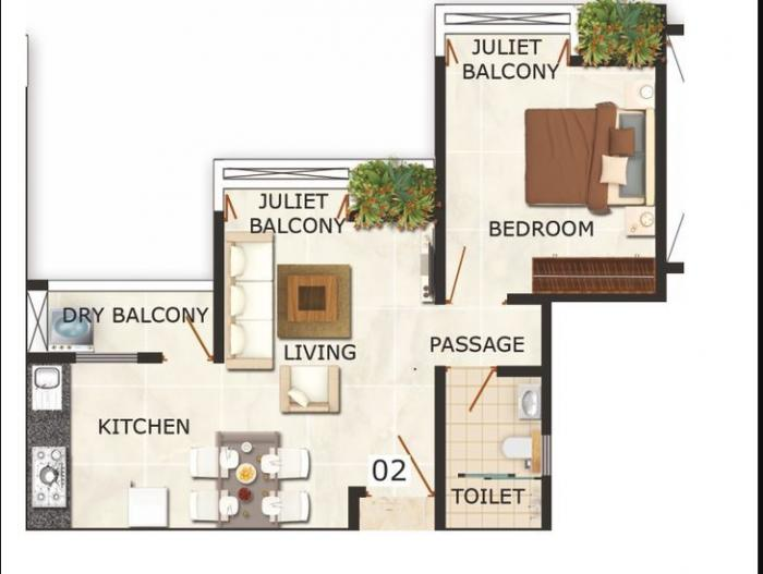 Puraniks Abitante, Pune - Floor Plan