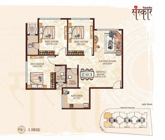 Sandu Sanskar, Mumbai - Floor Plan