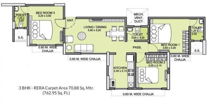 Integrated Kamal, Mumbai - Floor Plan