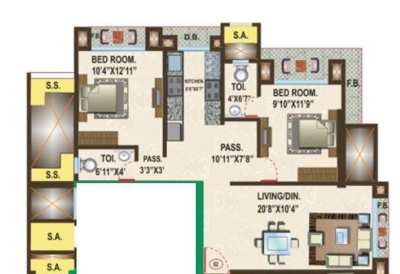 Vardhman Crystal, Mumbai - Floor Plan