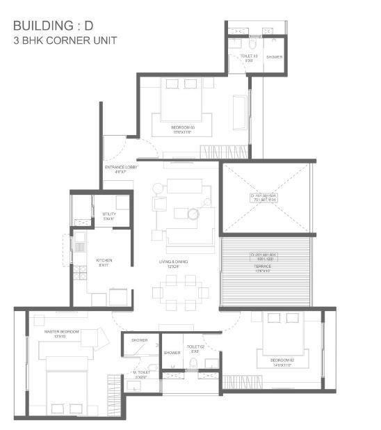 Marvel Ideal Spacio Phase I, Pune - Floor Plan
