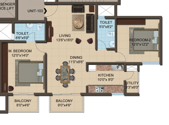 Arcadia Apartment, Bangalore - Floor Plan