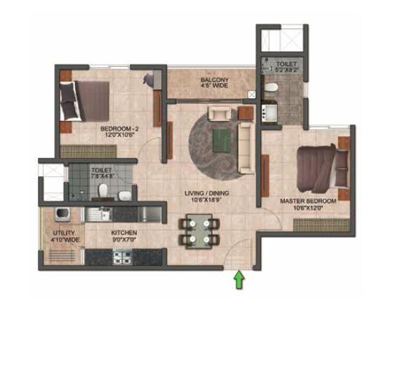 Prestige Jindal City, Bangalore - Floor Plan