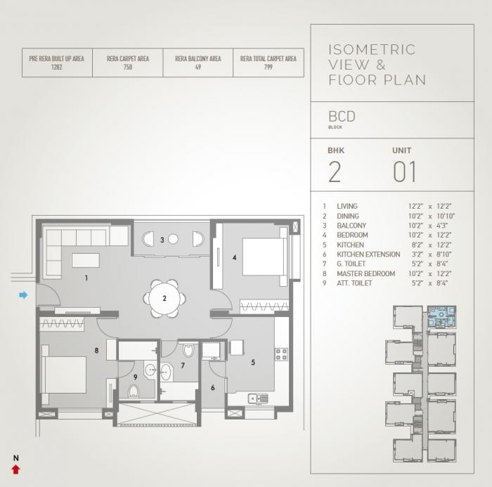 Pacifica Hillcrest, Hyderabad - Floor Plan