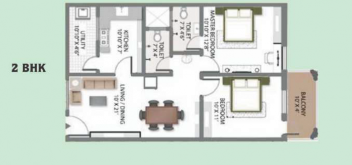 SLV Green City, Bangalore - Floor Plan