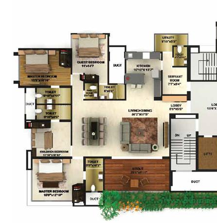 Naman Ekaaksh, Pune - Floor Plan