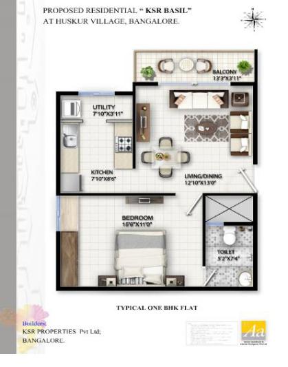 KSR Basil, Bangalore - Floor Plan