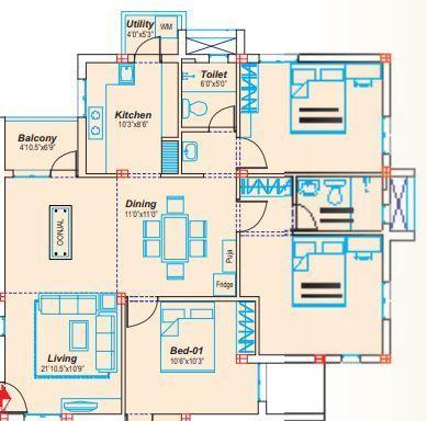 Sterling Bhandari, Chennai - Floor Plan