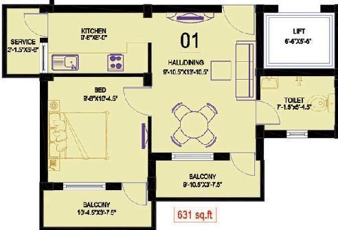 KEH Narinyas, Chennai - Floor Plan