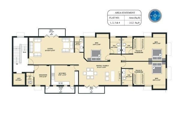 Golden Tiara, Chennai - Floor Plan