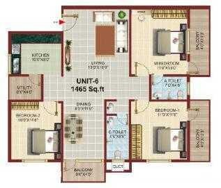Shakti Sprinkle, Bangalore - Floor Plan