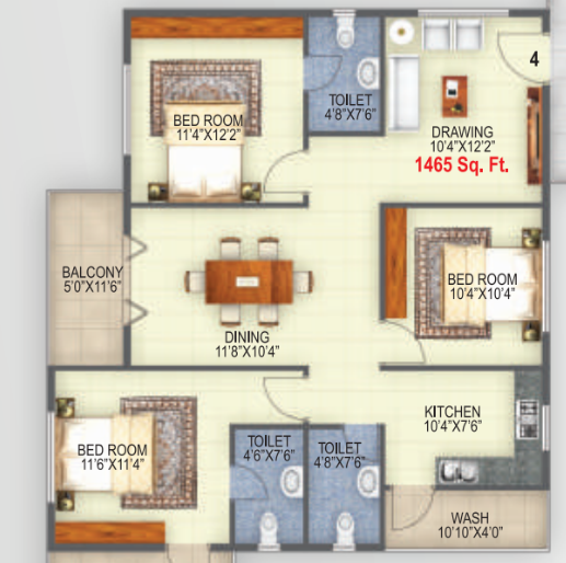 Jeevan Elite, Bangalore - Floor Plan