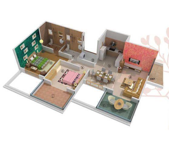 Chintamani The Almonds, Pune - Floor Plan