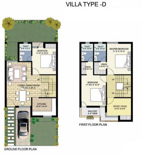 Unitech Palm Villas, Chennai - Floor Plan