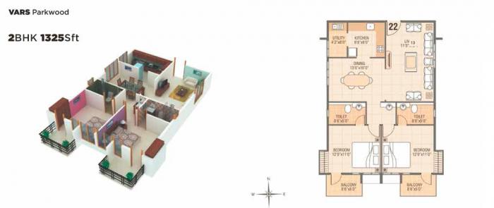 VARS Parkwood, Bangalore - Floor Plan