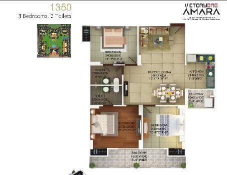 Victoryone Amara, GreaterNoida - Floor Plan