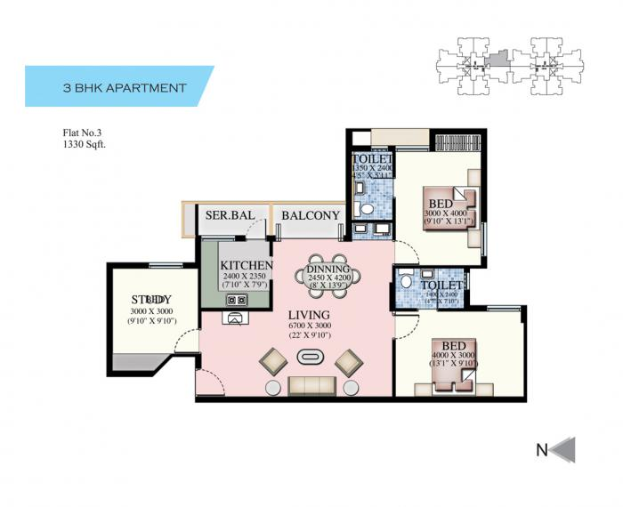 Ruby Elite, Chennai - Floor Plan