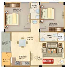 Cascade Residency, Bangalore - Floor Plan