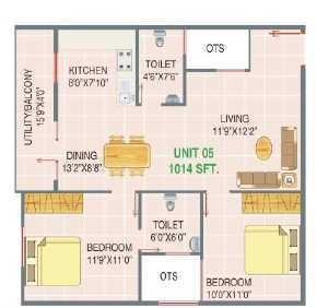 Sumukha Nest View, Bangalore - Floor Plan